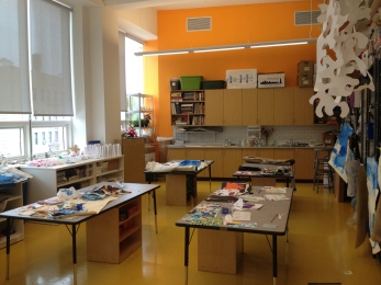 An art room at Bronx Community Charter School.