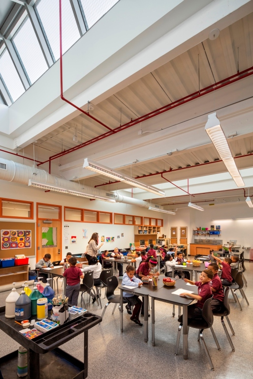Skylights enliven New Settlement Community Campus's art room. Photo Credit: David Sundberg / Esto