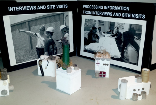 Models made by the teens were on display