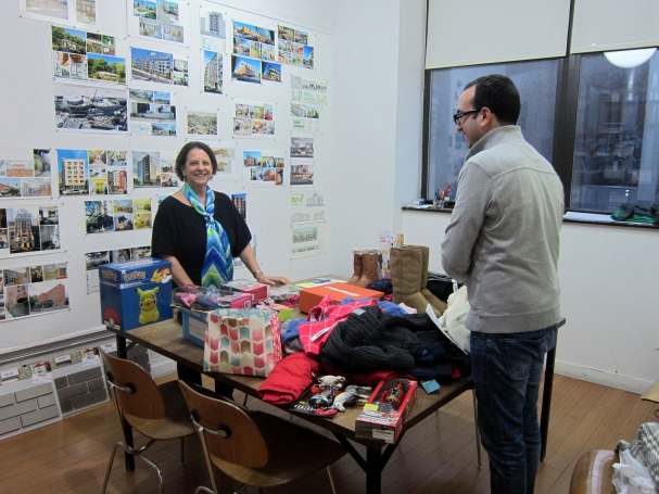 Lauretta and Martin launch the wrapping party