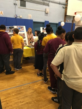 Our display was a hit! Students initially lined up to see the tables and then eased into a more casual interaction.