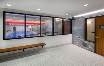 2018DS10 Thomas S. Murphy Clubhouse Pool, Architect: Edelman Sultan Knox Wood; Location: Brooklyn New York