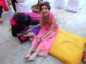 Hena at the Mehindi Party