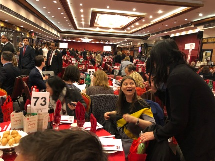 Over 900 were in attendance at Jing Fong Restaurant.